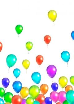 Wiele latających kolorowych balonów