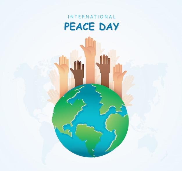 Wiele rąk różnych ras razem na całym świecie. zatrzymaj rasizm