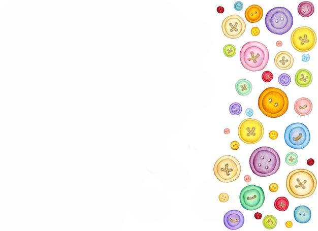Wiele różnych kolorowych przycisków do szycia ilustracji