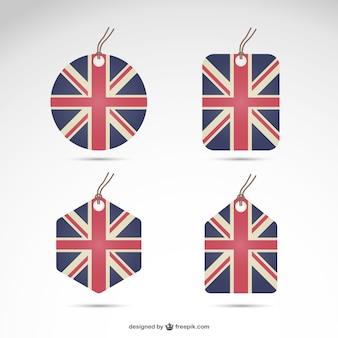 Wielka brytania flaga zestaw