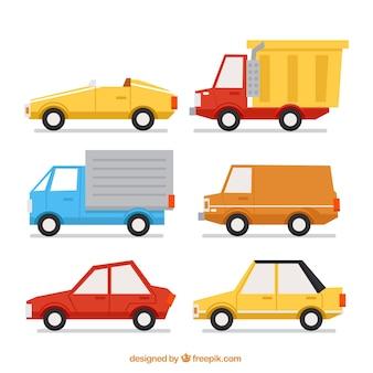 Wielka paczka pojazdów dekoracyjnych