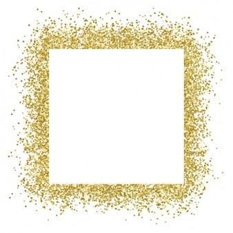 Wielka ramka ze złotym konfetti