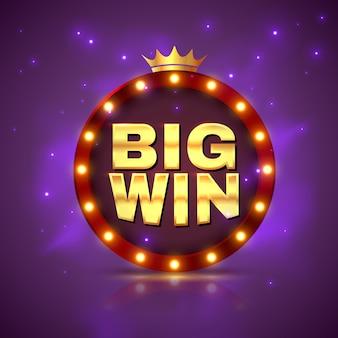 Wielka wygrana. wygrywająca loteria gier. hazard z jackpotem pieniężnym w kasynie