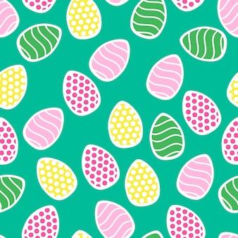 Wielkanoc bezszwowe wzór z małych świątecznych jaj - idealny do tapety, papier prezentowy, deseniem wypełnienia, tło strony internetowej, kartki z życzeniami wiosennymi i wielkanocnymi
