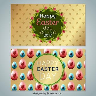 Wielkanoc dzień dekoracyjne banery 2017