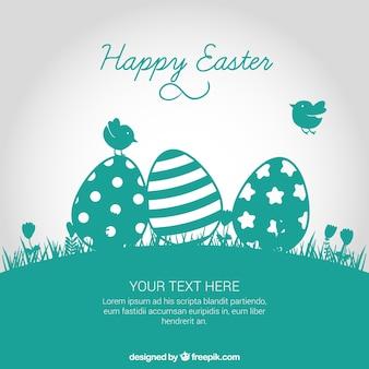 Wielkanoc karty w kolorze turkusowym tonu
