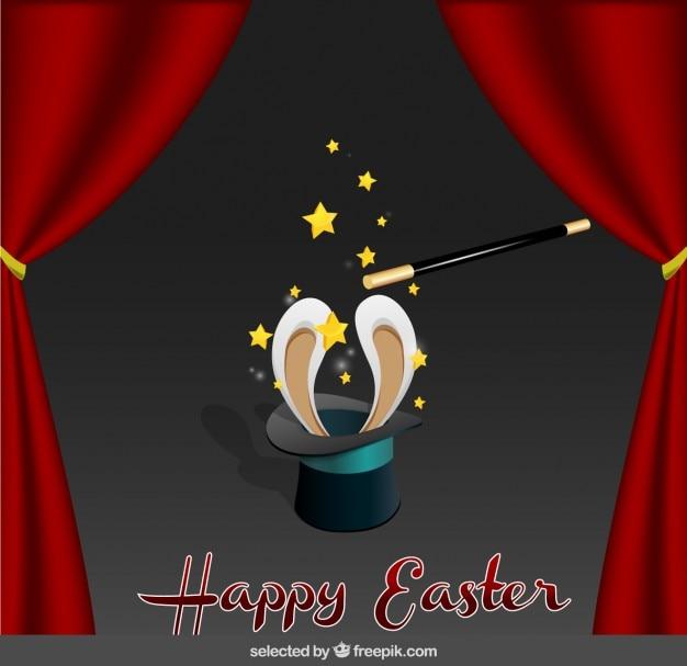 Wielkanoc karty z maga kapelusz