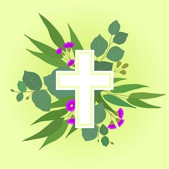 Wielkanoc krzyż ilustracja