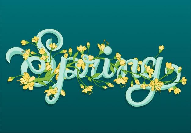 Wielkanoc kwiatowy znak