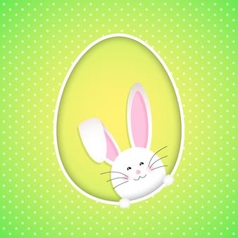 Wielkanoc tła z cute bunny