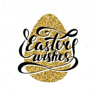 Wielkanoc życzy napis typografii