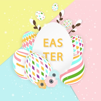 Wielkanocna karta z jajkami.