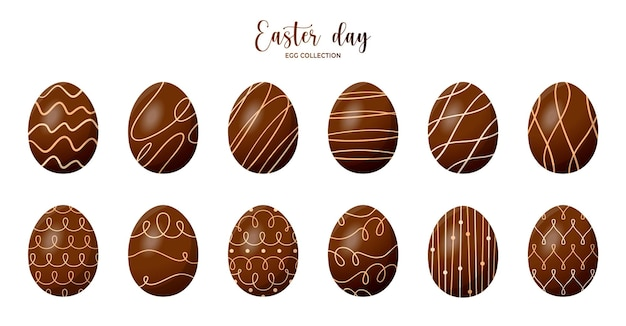 Wielkanocna kolekcja jajek czekoladowych