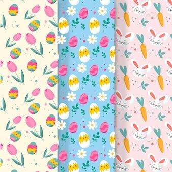 Wielkanocna kolekcja wzór w płaski kształt
