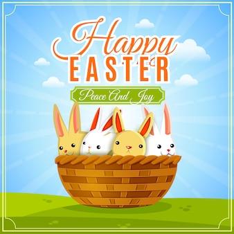 Wielkanocna plakatowa ilustracja