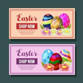 Wielkanocna promocyjna ulistnienie jajko sezonowe