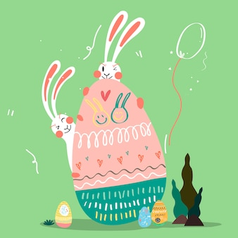 Wielkanocna świętowanie Ilustracja Darmowych Wektorów