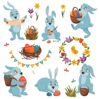 Wielkanocne dekoracje duży zestaw