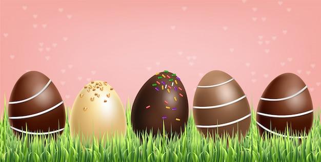 Wielkanocne jajka czekoladowe zestaw