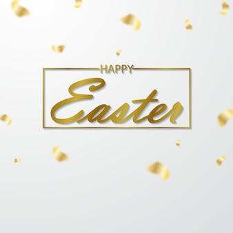 Wielkanocne kartki z życzeniami wyciąć z błyszczącego błyszczącego papieru złota