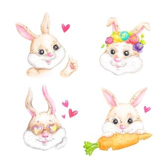 Wielkanocne króliczki, naklejki