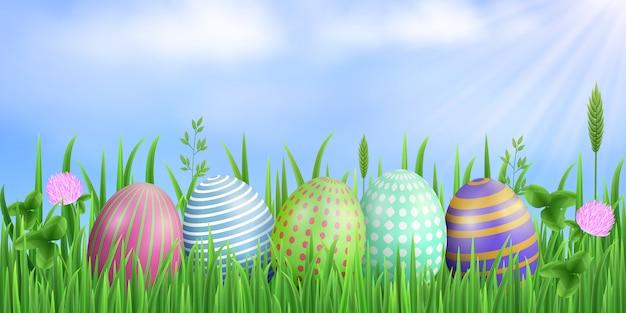 Wielkanocne prostokątne tło