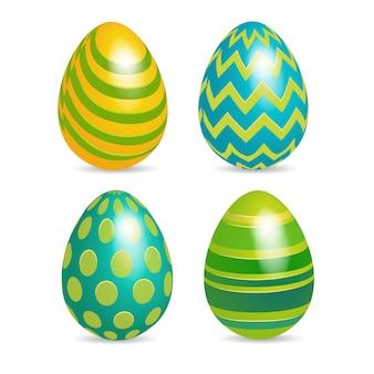 Wielkanocne zdobione kolorowe jajko
