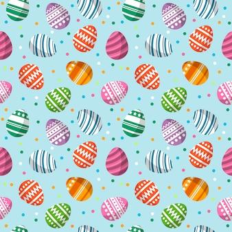 Wielkanocnego jajka bezszwowy deseniowy ilustracyjny wektor