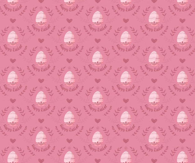 Wielkanocni jajka bezszwowy wzór na różowym tle