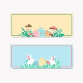 Wielkanocni jajka tropią festiwalu sztandaru wektor
