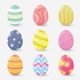 Wielkanocni jajka ustawiają inkasowego wektor