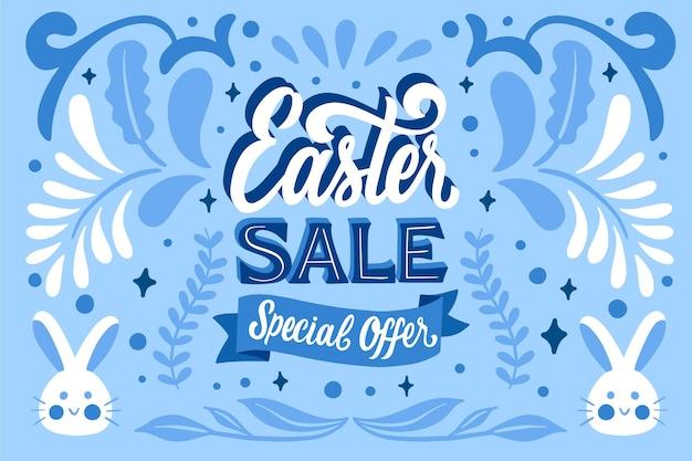 Wielkanocny baner sprzedaży