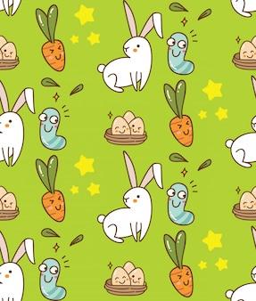 Wielkanocny bezszwowy tło