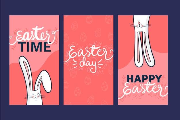 Wielkanocny dzień instagram koncepcja kolekcji opowiadań