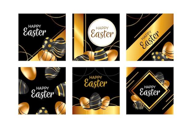 Wielkanocny dzień instagram koncepcja kolekcji post
