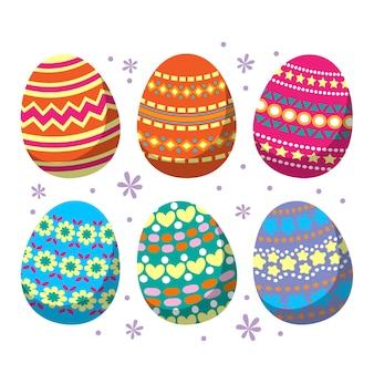 Wielkanocny dzień jajko płaski pakiet