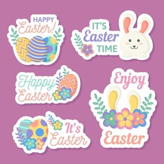 Wielkanocny dzień kolekcja koncepcja etykiety