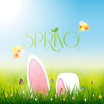 Wielkanocny królik, karta promocyjna wiosennej wyprzedaży
