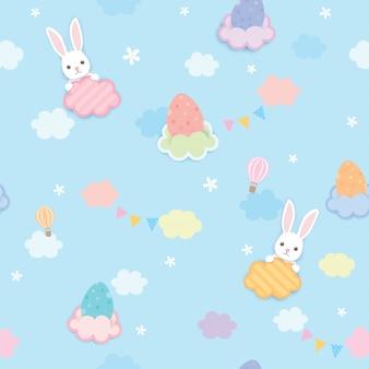 Wielkanocny niebo wzór