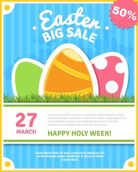 Wielkanocny plakat sprzedaż
