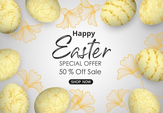 Wielkanocny sprzedaż sztandaru tło