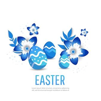 Wielkanocny sztandar z miejscem dla teksta.