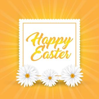 Wielkanocny tło z stokrotkami