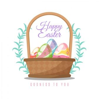 Wielkanocny tło z tradycyjnymi przedmiotami