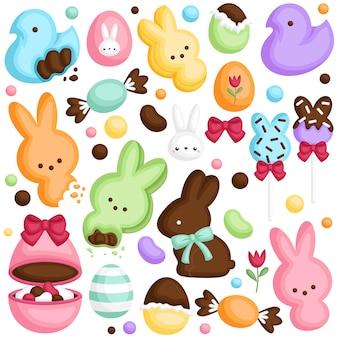 Wielkanocny zestaw cukierków