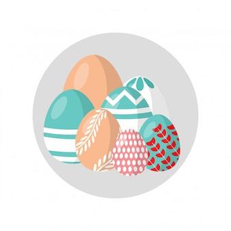 Wielkanocnych jajek popielaty tło.