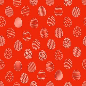 Wielkanocnych jajek sylwetek bezszwowy wzór. wielkanocne tło zawijanie wakacje