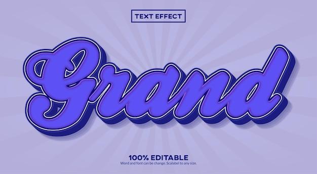 Wielki efekt tekstowy 3d