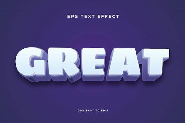 Wielki efekt tekstowy biały fioletowy