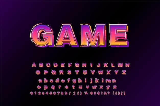 Wielki krój pogrubiony typografii 3d bezszeryfowy styl plakatu